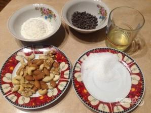 Легкое печенье с кокосом, орехами и шоколадом - фото шаг 1