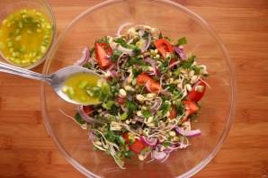 Салат с пророщенным машем - фото шаг 7
