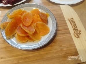 Говяжья печень с курагой и яблоком - фото шаг 3