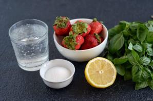 Лимонад с базиликом и клубникой - фото шаг 1