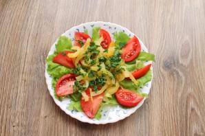 Салат с печенью и болгарским перцем - фото шаг 7