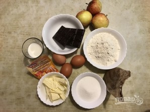 Яблочный кекс с шоколадом - фото шаг 1