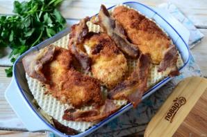 Вафельная лазанья с курицей - фото шаг 7