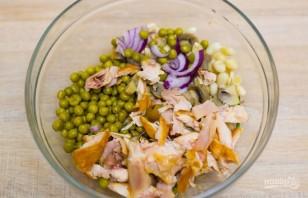 Салат с курицей и картофелем - фото шаг 4