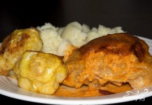Курица со сметаной и чесноком - фото шаг 7