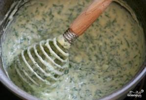 Рулет с семгой и зеленью - фото шаг 3