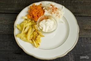 """Вкусный салат """"Сделай сам"""" - фото шаг 5"""