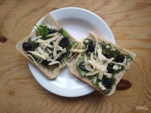 Горячие бутерброды с зеленью и оливками - фото шаг 6