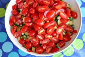 Салат из кукурузы, цукини и помидоров - фото шаг 3