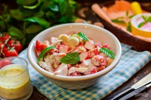 Салат из кальмаров с помидорами - фото шаг 8