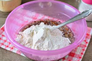 Постный пирог с орехами - фото шаг 8
