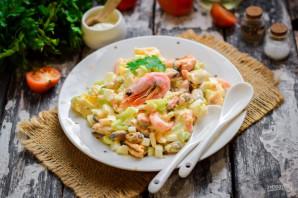 Салат с креветками, мидиями и кальмарами - фото шаг 7