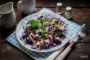 Салат с краснокочанной капустой и кукурузой - фото шаг 6