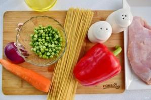 Спагетти «Примавера» - фото шаг 1