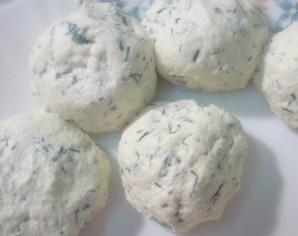 Сырники с зеленью - фото шаг 3