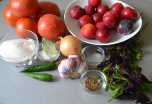 Кетчуп из помидор и слив - фото шаг 1