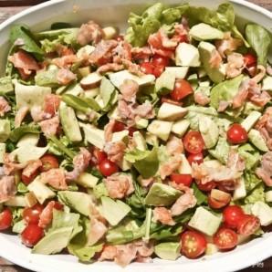 Салат с лососем и козьим сыром - фото шаг 9