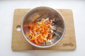 "Мясной салат ""Крыска"" - фото шаг 7"