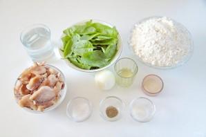 Лепешки со шпинатом и грибами - фото шаг 1