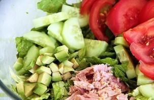 Салат с тунцом копченым - фото шаг 4