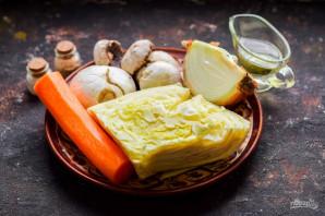 Овощная солянка с грибами - фото шаг 1