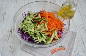 Очищающий салат из краснокочанной капусты - фото шаг 3