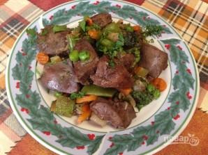 Печень индейки с овощами - фото шаг 8