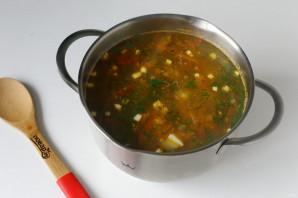 Суп с гречкой и фасолью - фото шаг 12