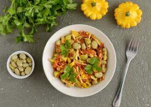 Салат из жареных овощей - фото шаг 7