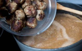 Томатный суп с тефтелями - фото шаг 8