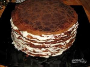 Блинный торт со взбитыми сливками - фото шаг 15