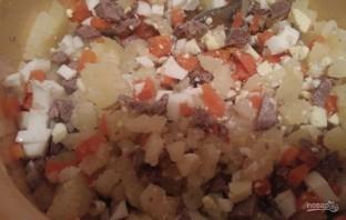 Салат из печени с сыром - фото шаг 3