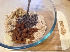 Печенье из цельнозерновой муки с инжиром и шоколадом - фото шаг 6