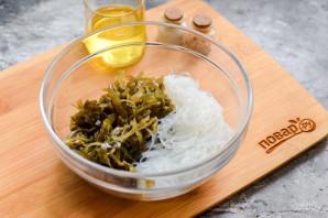 Салат с фунчозой и морской капустой - фото шаг 4