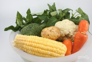 Овощи в пароварке - фото шаг 1