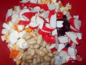 Салат с рисом и крабовыми палочками - фото шаг 3