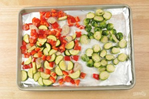 Багет с запечёнными овощами - фото шаг 2