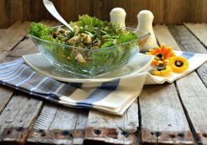 Cалат с курицей, грибами и адыгейским сыром - фото шаг 7