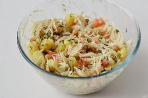 Салат с капустой и нутом - фото шаг 6