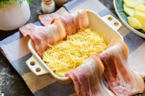Картофельный мильфей с беконом - фото шаг 6