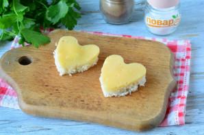 Бутерброды в виде сердца - фото шаг 6