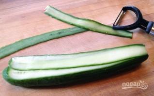 Праздничная закуска из авокадо и огурца - фото шаг 3