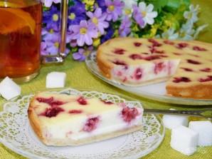 Малиновый пирог со сметанной заливкой - фото шаг 6