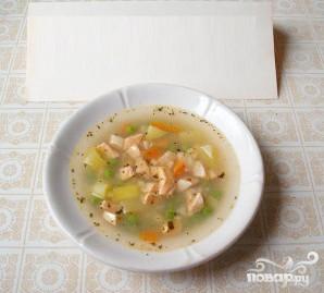 Суп из семги с зеленым горошком - фото шаг 4