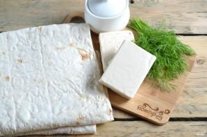 Лаваш с сыром и укропом - фото шаг 1