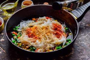Рисовая лапша с овощами по-китайски - фото шаг 4