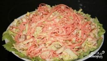 Салат из моркови по-корейски с курицей - фото шаг 6