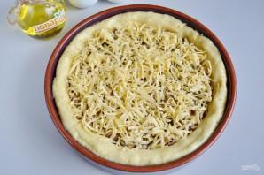 Картофельный пирог с грибами и сыром - фото шаг 9