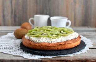 Пирог с  творогом и киви - фото шаг 7