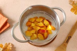 Рисовая каша с персиками